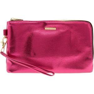 JUICY COUTURE  Metallic Pink Charging Clutch.